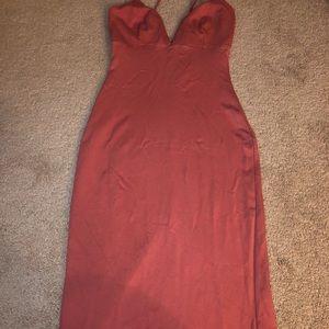 Mauve colored party dress